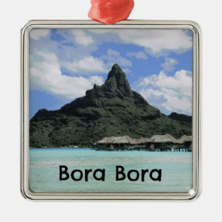 Dream Vacation Bora Bora Tahiti Atoll Formation Metal Ornament