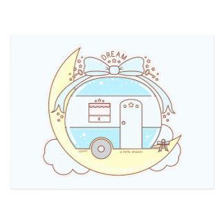 Dream Vintage Camper Trailer Postcard
