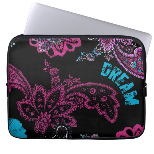 Dream Vintage Floral Pattern Laptop Sleeve