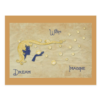 Dream Wish Imagine Postcard