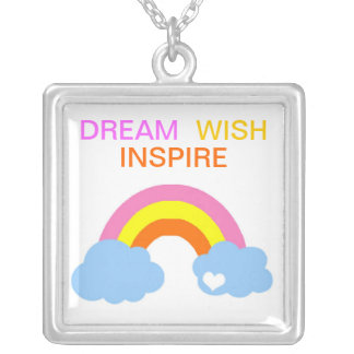 Dream.Wish.Inspire. Silver Plated Necklace