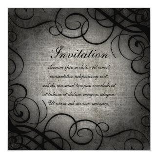 """Dream Within A Dream Coordinates 5.25"""" Square Invitation Card"""