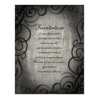 "Dream Within A Dream Coordinates 4.25"" X 5.5"" Invitation Card"