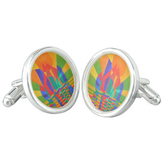 Dreamboat - Cubist Junk In Primary Colors Cufflinks