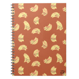 DreamCat Pastel Peach/Blood Orange spiral notebook