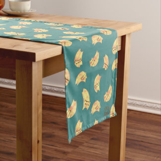 DreamCat Pastel Peach/Teal Short Table Runner