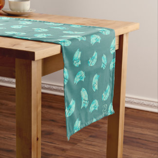 DreamCat Sky Blue/Teal Short Table Runner