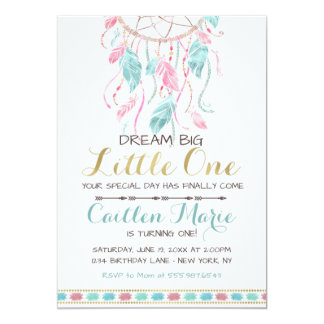 Dreamcatcher Birthday Invitation Boho Tribal