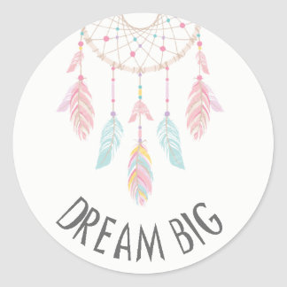 Dreamcatcher Boho Baby Shower Sticker Dream Big