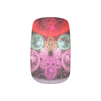"""Dreamcatcher"" custom fractal artwork Minx Nail Art"