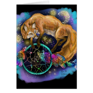 DreamCatcher Fox Card