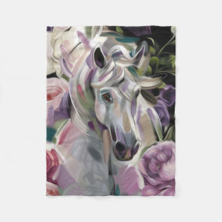 'Dreamcatcher' horse art fleece blanket. Small