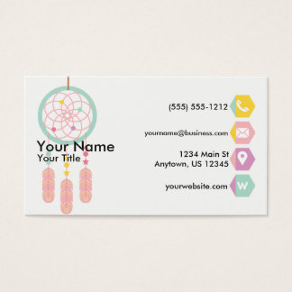 Dreamcatcher Pastel Business Card