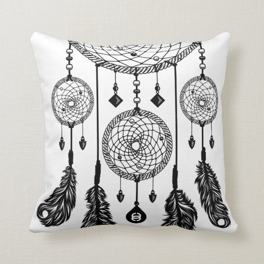 Dreamcatcher - Square Pillow (White)