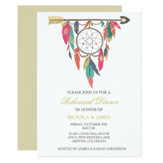 Dreamcatcher Wedding Rehearsal Dinner Invitation