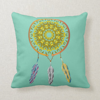 Dreamcatcher with Feathers Throw Pillow