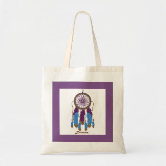 Dreamcatcher with Purple Frame Tote Bag