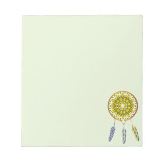 Dreamcatcher with Three Feathers Notepad