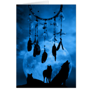 Dreamcatcher Wolves Greeting Card