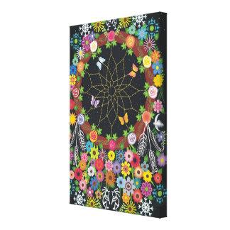 Dreamcatcher Wreath Floral Canvas Print