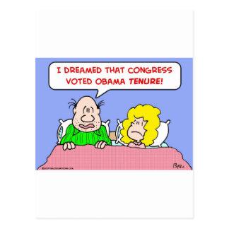dreamed congress voted obama tenure postcard