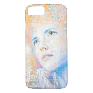 Dreamer | colorful art portrait painting of girl iPhone 7 case