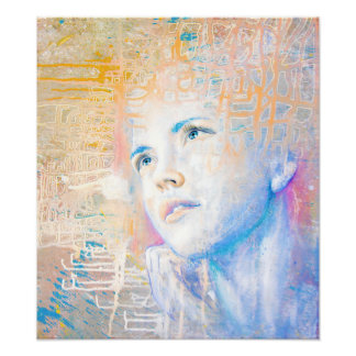 Dreamer | colorful art portrait painting of girl poster