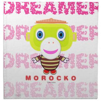 Dreamer-Cute Monkey-Morocko Napkin