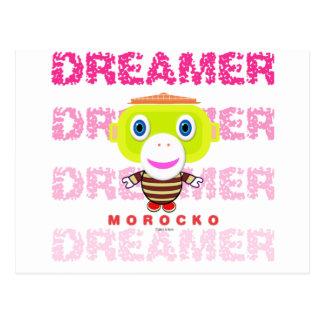 Dreamer-Cute Monkey-Morocko Postcard
