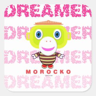 Dreamer-Cute Monkey-Morocko Square Sticker