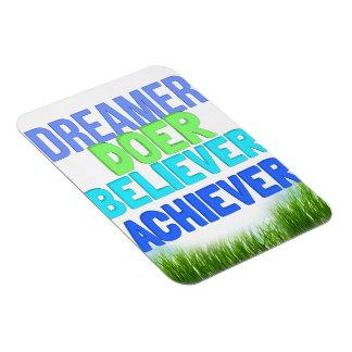Dreamer Doer Believer Achiever Motivational Magnet