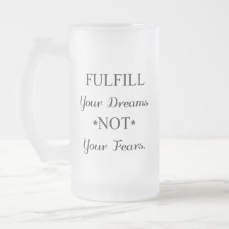 Dreamer Frosted Glass Beer Mug
