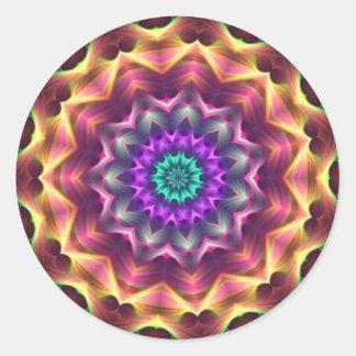 Dreamer Kaleidoscope Classic Round Sticker
