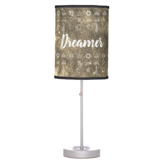 Dreamer / Space Symbols (sepia) Table Lamp