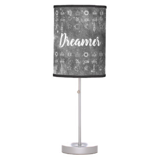 Dreamer / Space Symbols Table Lamp