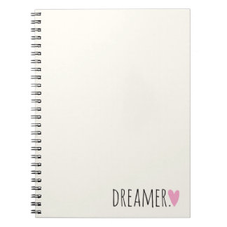 Dreamer with Heart Spiral Notebook