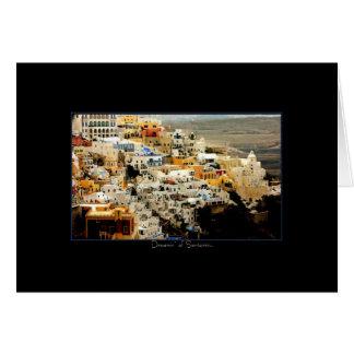 Dreamin' of Santorini Card