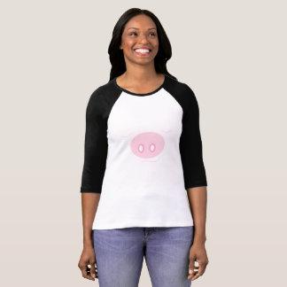 """Dreamin' of the Farm Life"" Sleeping Pig Raglan T T-Shirt"