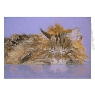Dreaming Cat Card