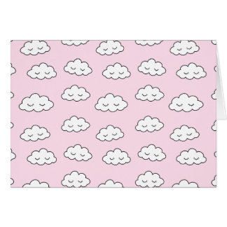 Dreaming clouds in pink card