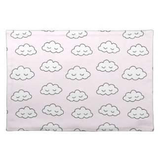 Dreaming clouds in pink placemat
