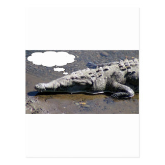 Dreaming Crocodile, Add Your Own Text! Postcard