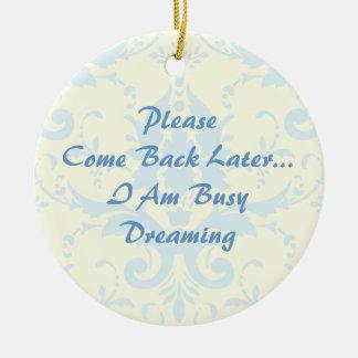 Dreaming Door Hanger Ceramic Ornament