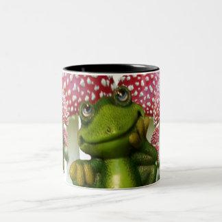 Dreaming Frog Two-Tone Coffee Mug
