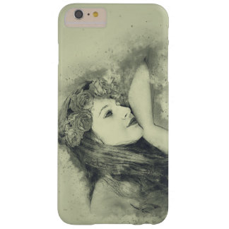 Dreaming girl with roses for iPhone 6 / 6s Plus Barely There iPhone 6 Plus Case
