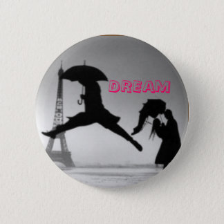Dreaming in Paris 2 Inch Round Button