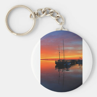 Dreaming in Twilight Basic Round Button Keychain