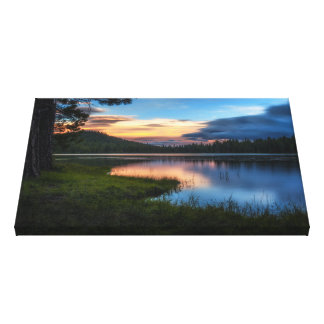 Dreaming Juanita Lake Northern California Sunset Canvas Print