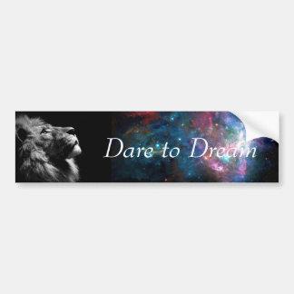 Dreaming king bumper sticker