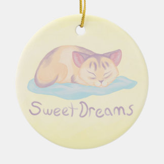 Dreaming Kitten Ceramic Ornament